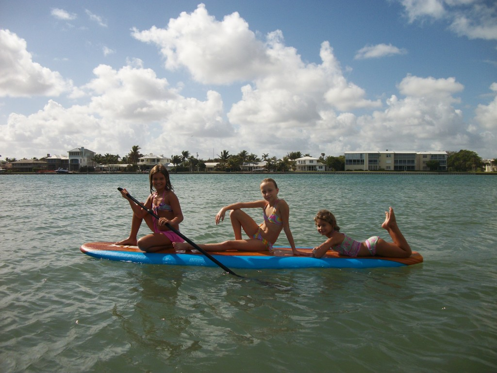 Family Stand Up Paddleboard Fun