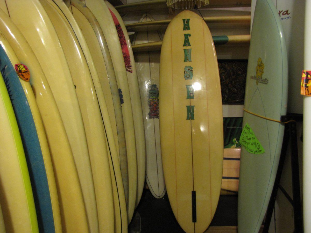 hansen vintage surfboard surfing museum surfshop stuart jensen beach fl
