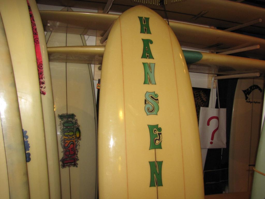 "7'2"" Hansen Superlight Vintage surfboard"