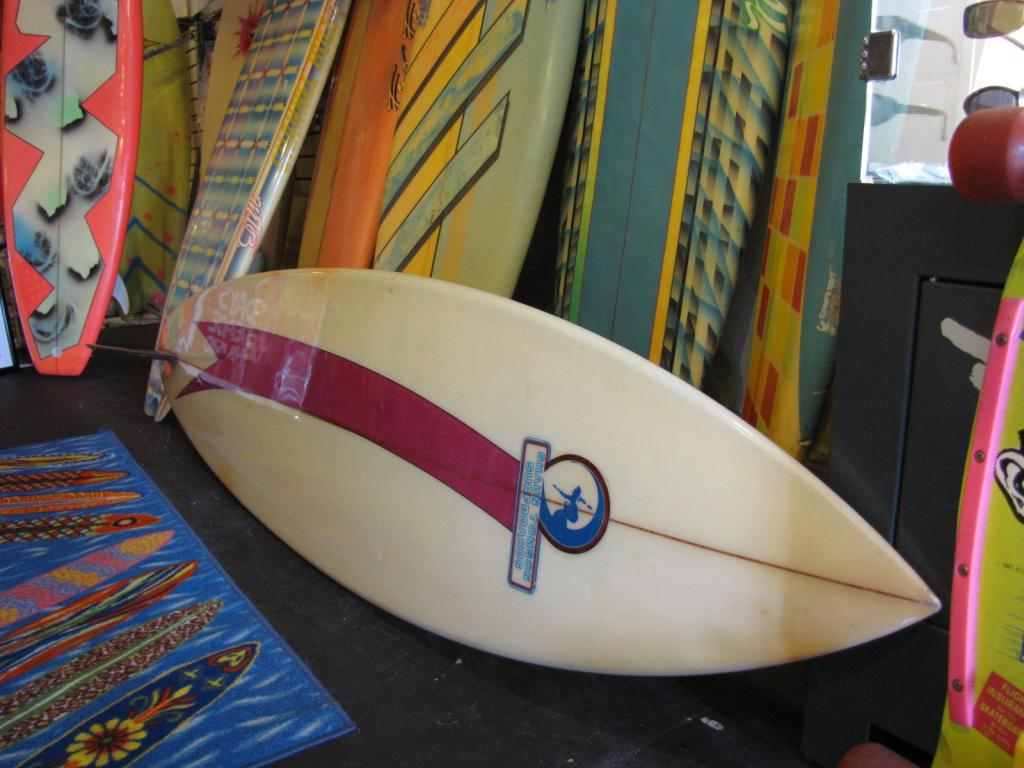 Shaun Thomson 1976 Vintage single fin surfboard