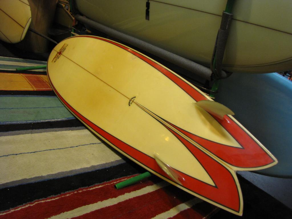 Santa Monica Airlines  zee boys jeff ho lords of dogtown vintage twin fin surfboard