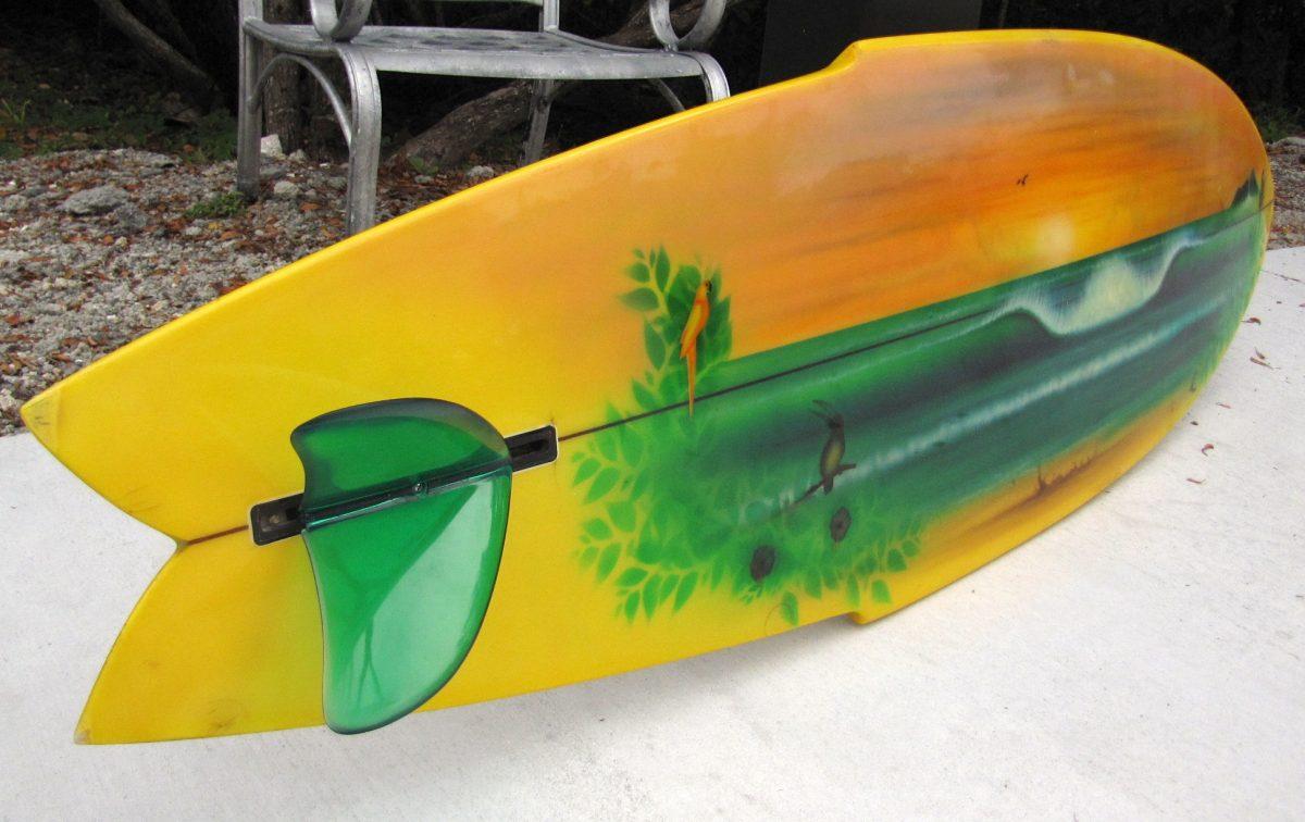6 6 1975 Catri Vintage Surfboard Island Trader Surf Shop