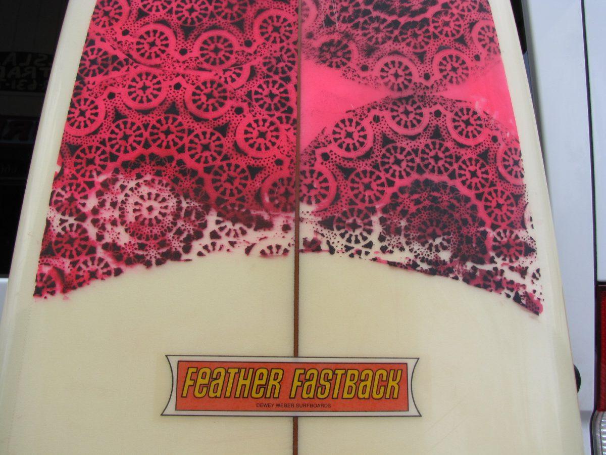 Dewey Weber feather fastback vintage surfboard museum surfshop stuart fl
