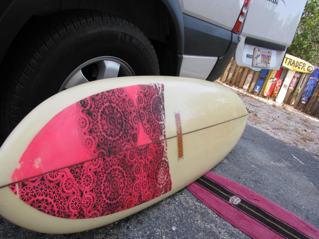 1969 Dewey Weber feather fastback vintage surfboard