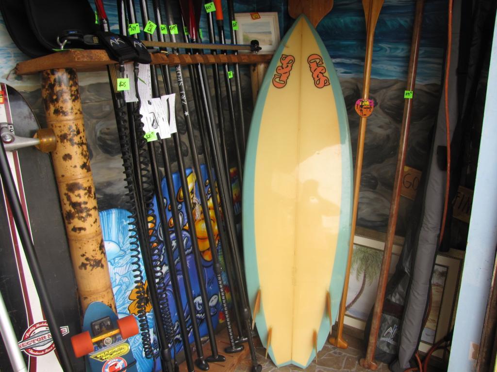 1985 G&S 80's quad fin vintage surfboard shortboard