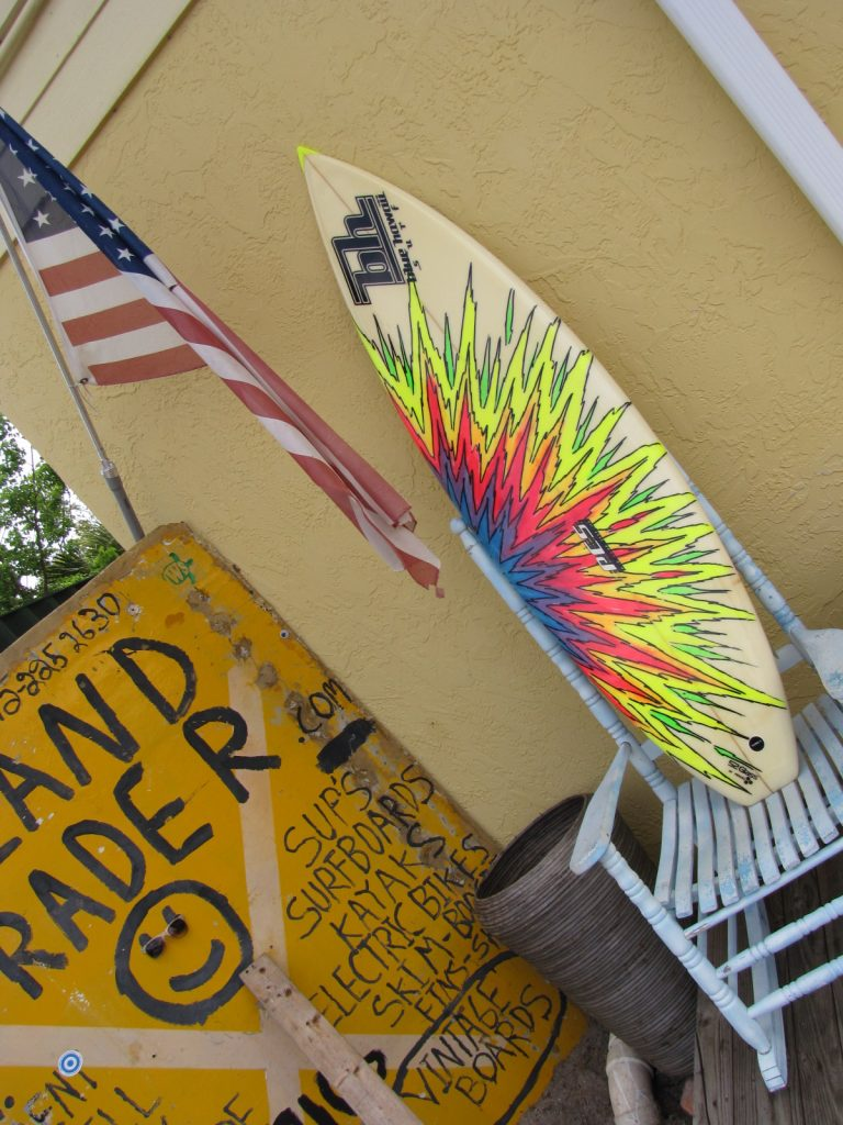 Blue Hawaii vintage 80's surfboard dennis pangsurf board town and country surfboards