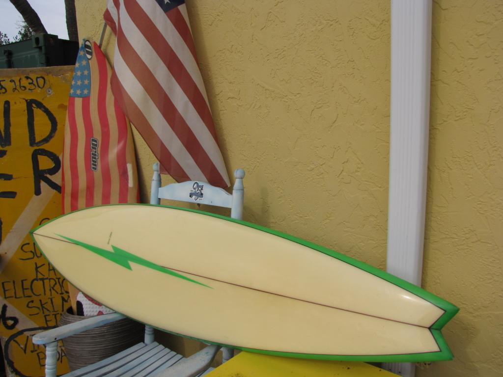 classic 1970's jerry lopez lightning bolt vintage surfboard mickey munoz surf board surfboards