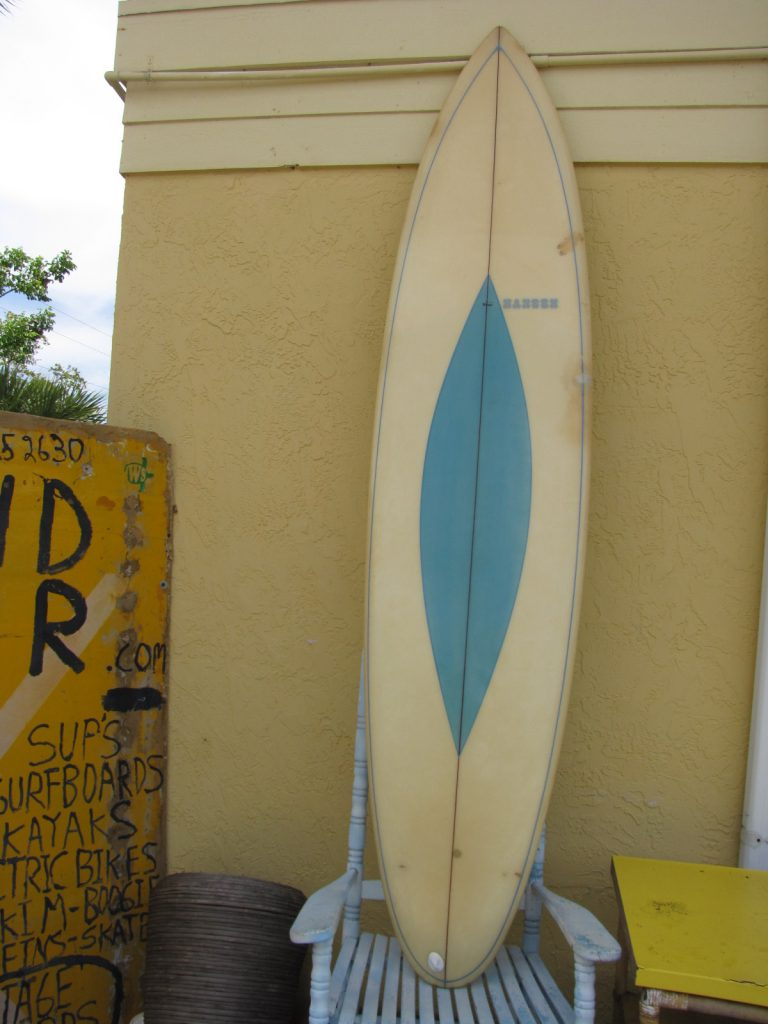 Vintage hansen surfboards surfboard longboard singlefin single fin 1970 1970's transitional surf board by rolland