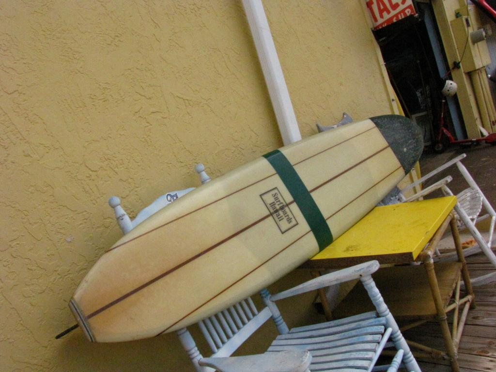 Surfboards Hawaii Vintage surfboard longboard 1960's d fin triple stringer surf board surfboard stuart fl