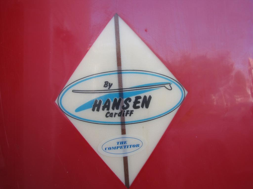 1960's Hansen Competitor vintage longboard surfboard surfing surfboards noserider