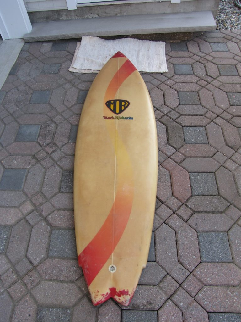 Mark Richards 1980's twin fin vintage surfboard star fin system surfboards surfing surfboards