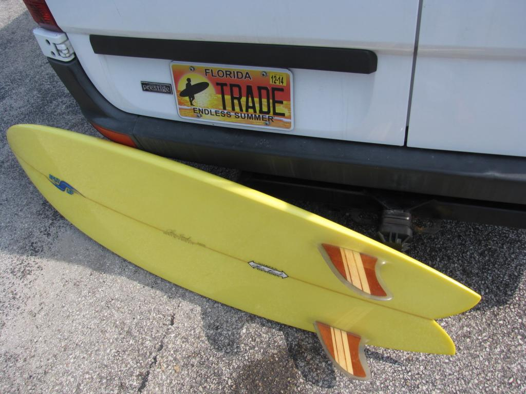 Chris Birch twin fin surfboard fish surfboards swallow tail surf board glassed in fin