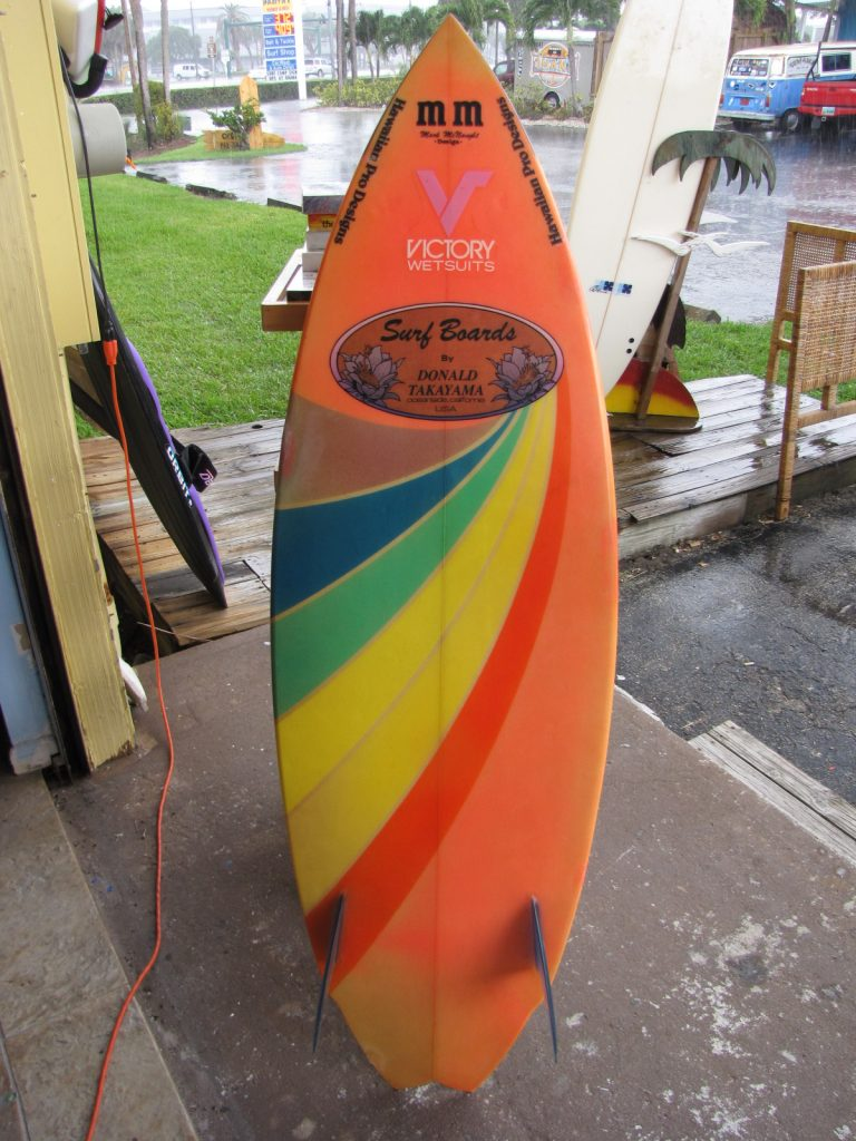 Donald Takayama  1980's surfboard vintage twin fin surfboards hawaiian pro design