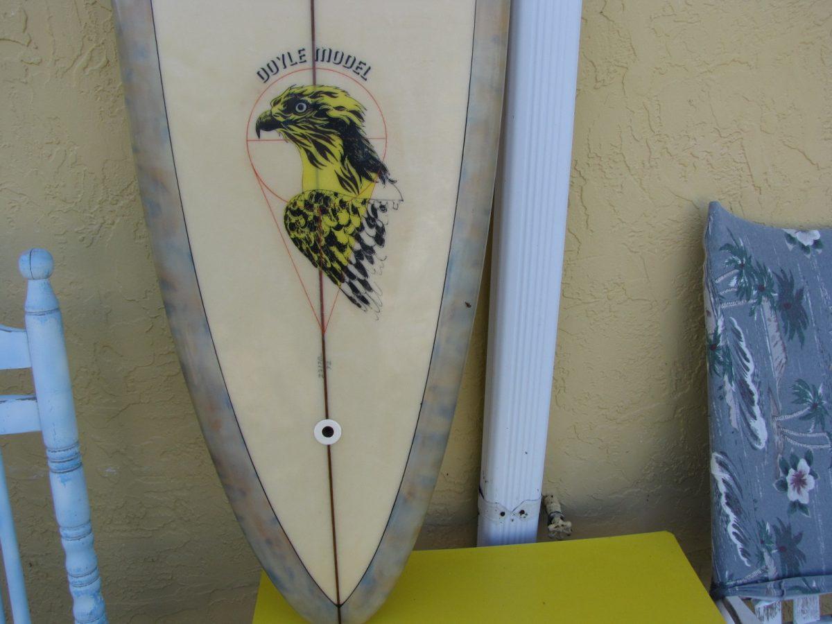 Hansen Mike Doyle vintage antique surfboard museum longboard surfboards single fin showdown surfshop stuart jensen beach fl 34996