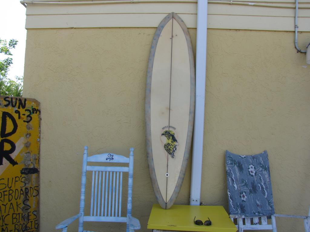 Hansen Mike Doyle vintage transitional surfboard longboard bolt through fin surfboards single fin surf board