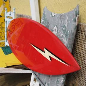 gerry lopez lightning bolt surfboard vintage antique museum single fin semi gun tom eberly shaper surfshop stuart jensen beach fl 34996