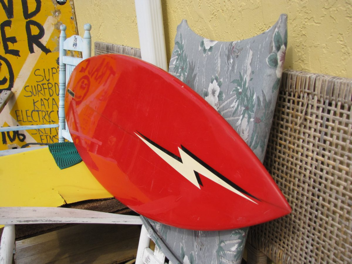 gerry lopez lightning bolt surfboard vintage antique museum single fin semi gun tom eberly shaper surfshop stuart jensen beach fl 34996