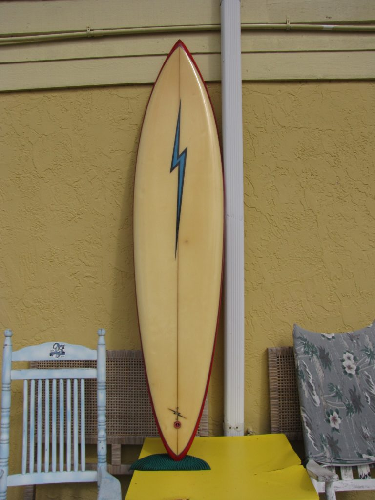 Jerry lopez vintage surfboard lightening bolt surfboards semi gun used surfboards tom eberly