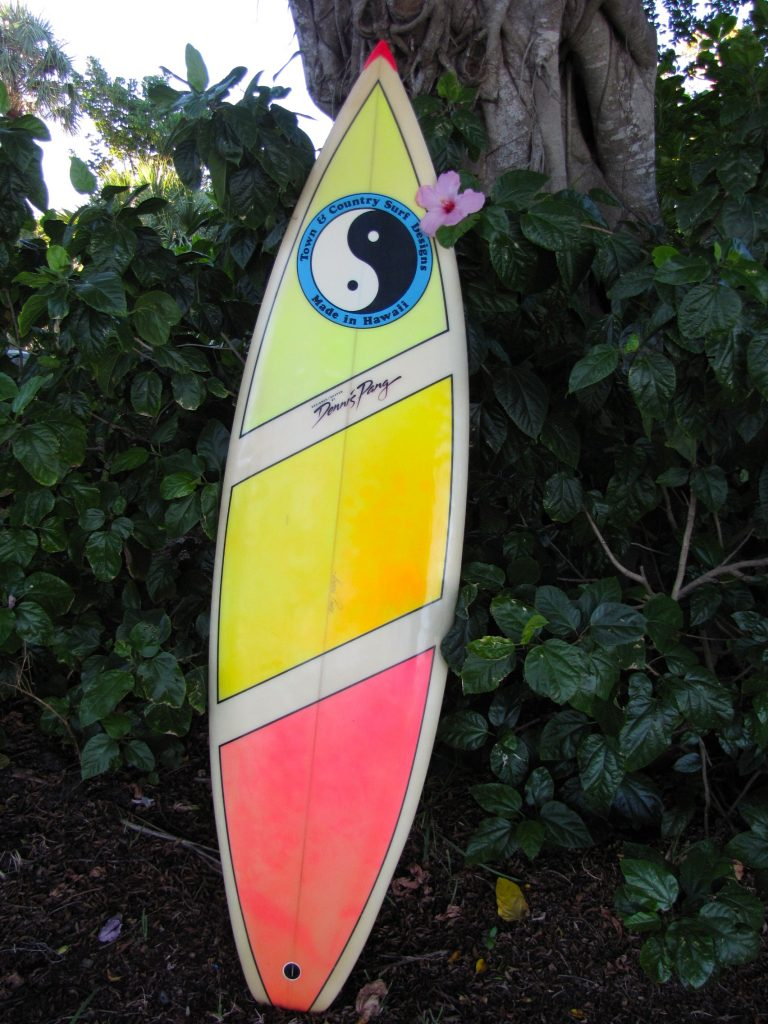 T&C hawaii vintage surfboard town and country vintage surfboards  dennis pang vintage surfboard cheap used surfboards surfshop surf shop  stuart fl 34996