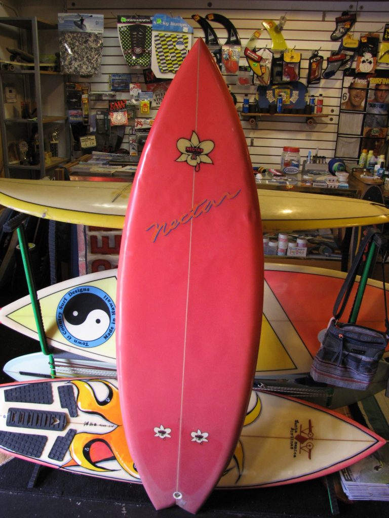 Vintage nectar surfboard 1980's surfboard Gary macnabb  shaper twin fin surfboards surfshop stuart fl 34996 sup shop paddleboard shop used sup's surf board wetsuits classic 80's carbon fiber paddles