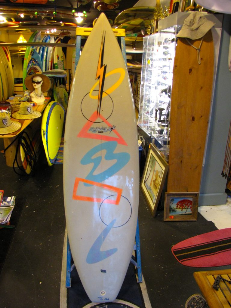 jerry lopez lightening bolt tom eberly vintage 1980's surfboard surf board surfshop surf shop stuart  jensen beach fl 34996