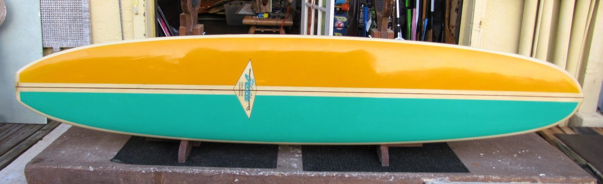 hobie vintage 1960's long board surfboard hobart alter d fin surfshop stuart fl 34996