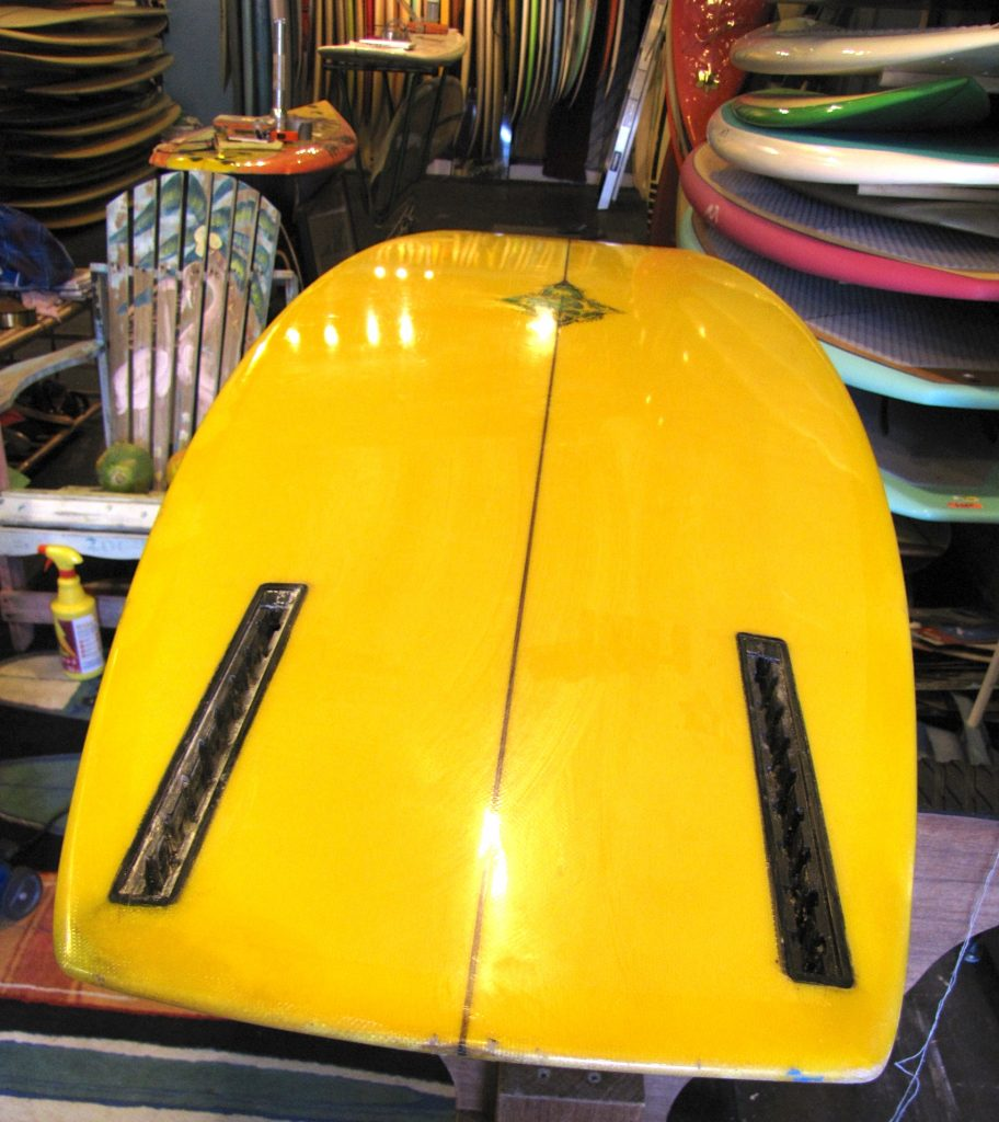 hobie alter 1960's vintage surfboard george greenough guidance fin system twin fin mickey munoz surfshop stuart fl 34996
