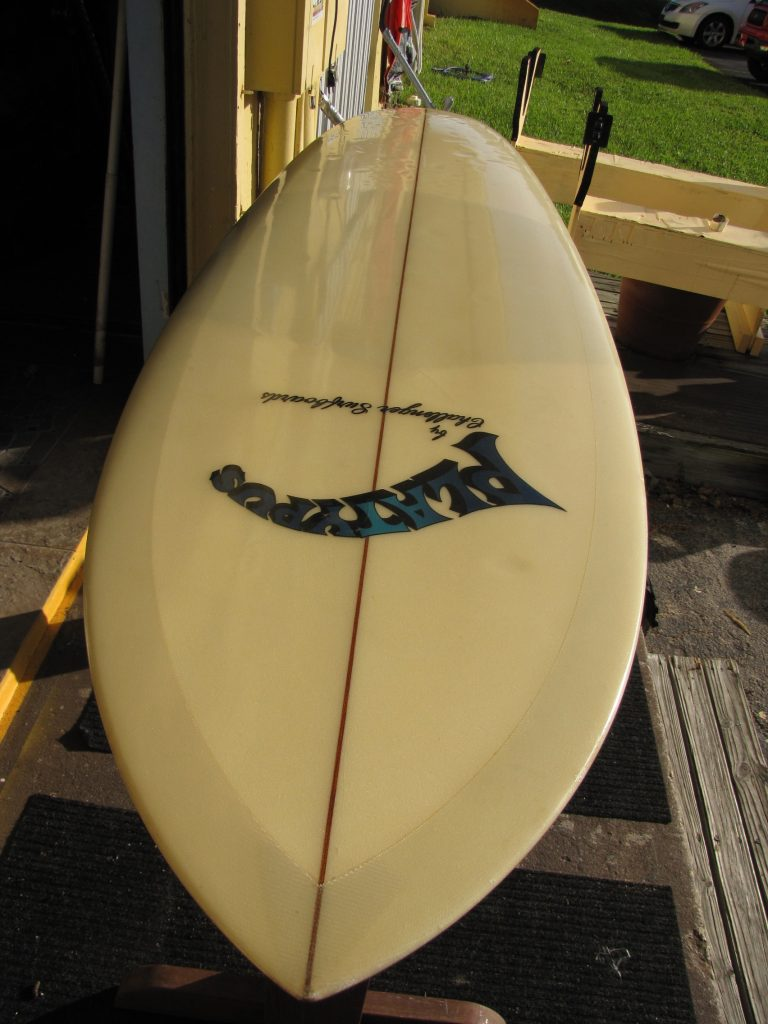 challenger vintage 1969 surfboard bobby thomas shaper platypus model surf museum surfshop surf shop stuart fl 34996