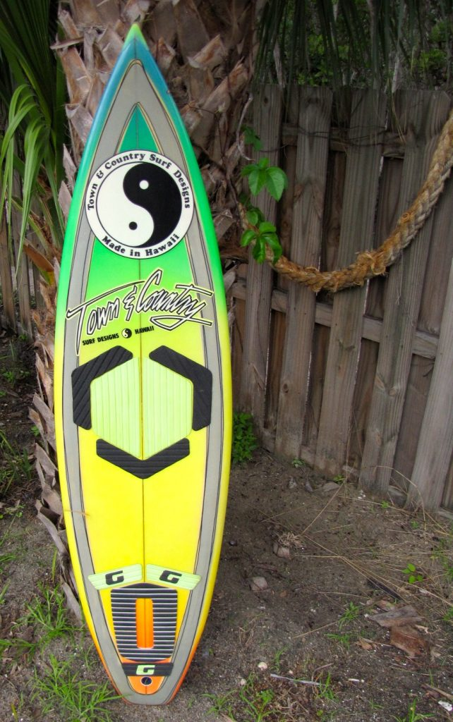 t&c town and country dennis pang vintage 1980's surfboard used surfboards stuart hutchinson island fl 34996