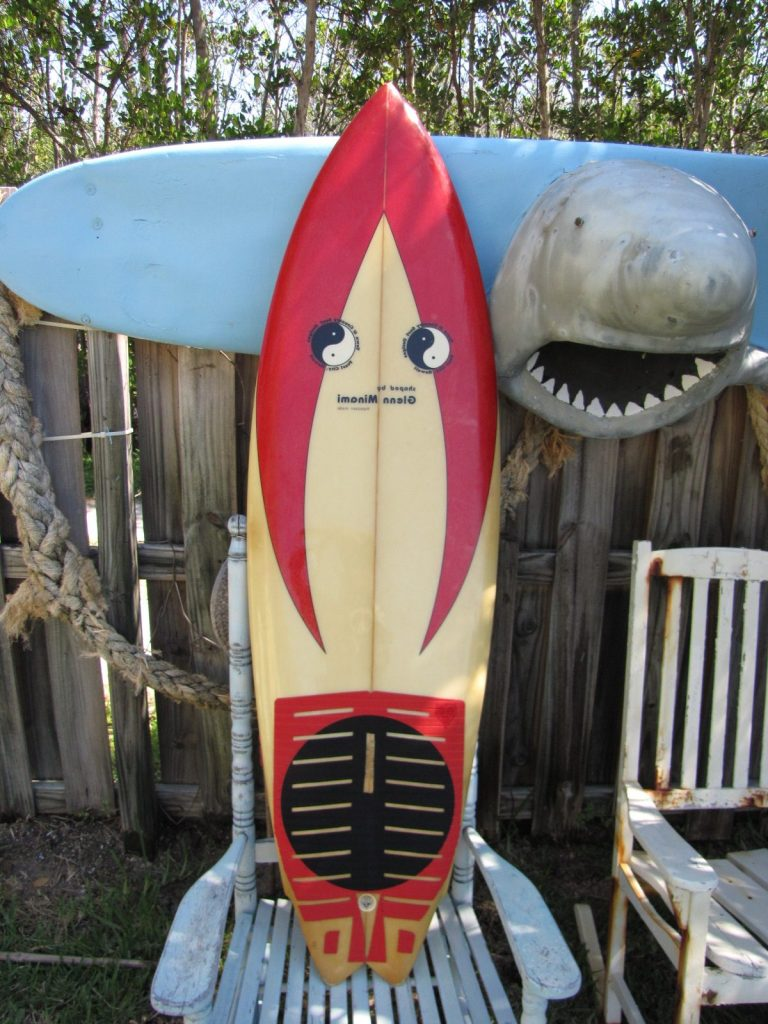 Vintage T&c Town and & Country surfboard twinfin twin fin glenn minami dennis pang surfboards surf shop surfshop stuart fl 34996