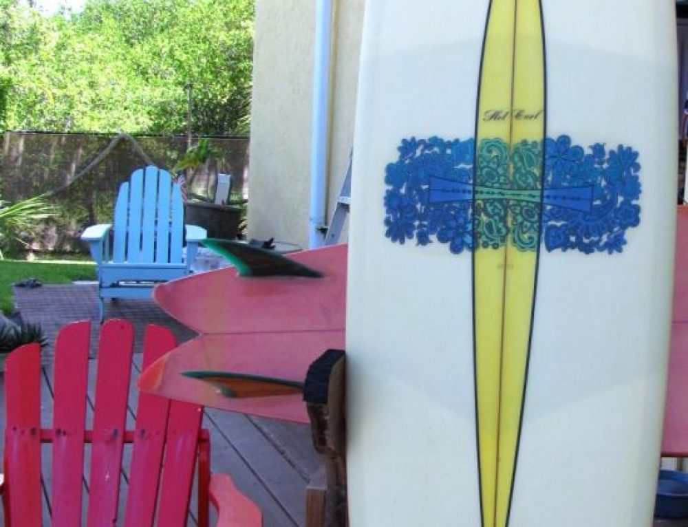 "1969 G&S ""Hot Curl"" Vintage Transitional Surfboard"