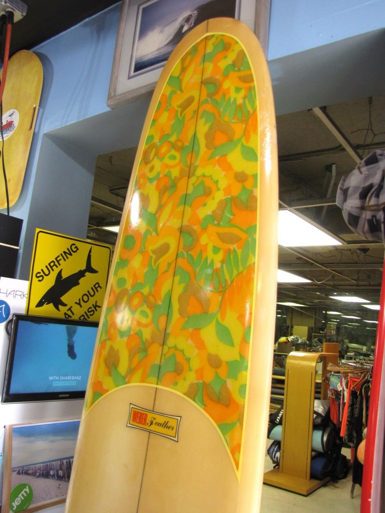 Dewey Weber feather vintage surfboard waveset fin used surfboards surf shop surfshop jensen beach stuart fl 34996