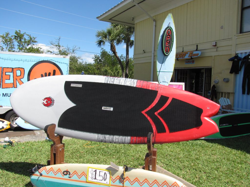 COREVAC  CANNIBAL A.J. FINNAN  SURFSUP SURF SUP STAND UP PADDLEBOARD USED S.U.P. SURFBOARD SURFSHOP  CARBONFIBER  PADDLE  STUART jensen beach treasure coast FL 34996