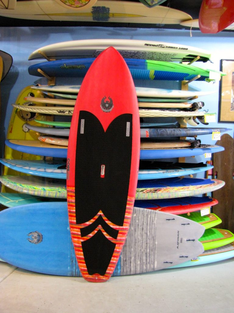 COREVAC CANNIBAL A.J. FINNAN SURFSUP SURF SUP STAND UP PADDLEBOARD USED S.U.P. SURFBOARD SURFSHOP CARBONFIBER PADDLE STUART jensen beach treasure coast FL florida 34996