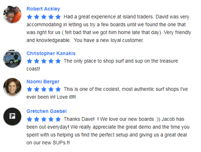 Social Media reviews about Island Trader