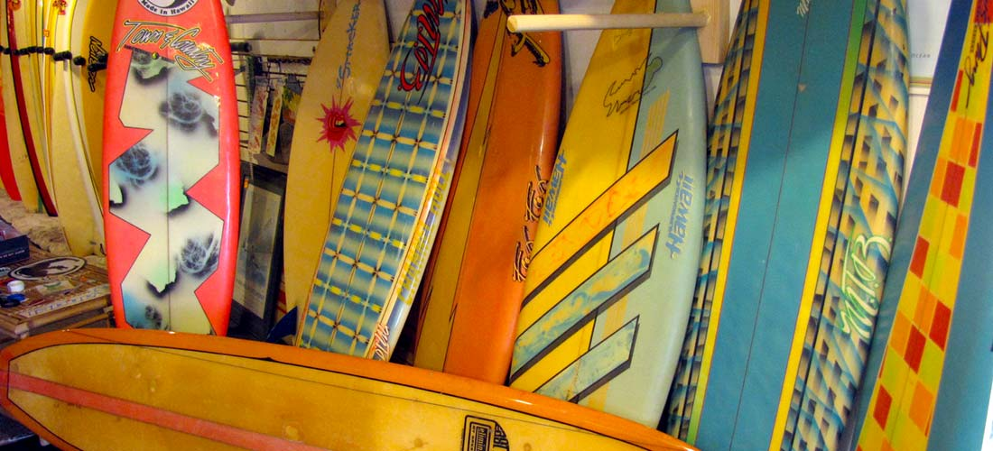 Vintage Surf Boards at Island Trader