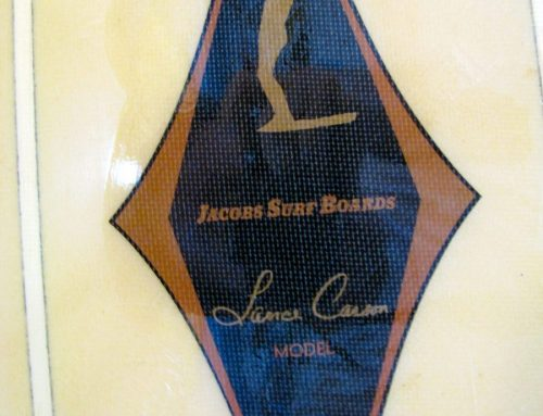 10′-6″ Jacobs Lance Carson Vintage Surfboard