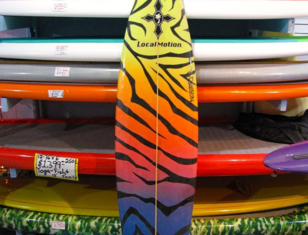 Local Motion / Pat Rawson Vintage Surfboard