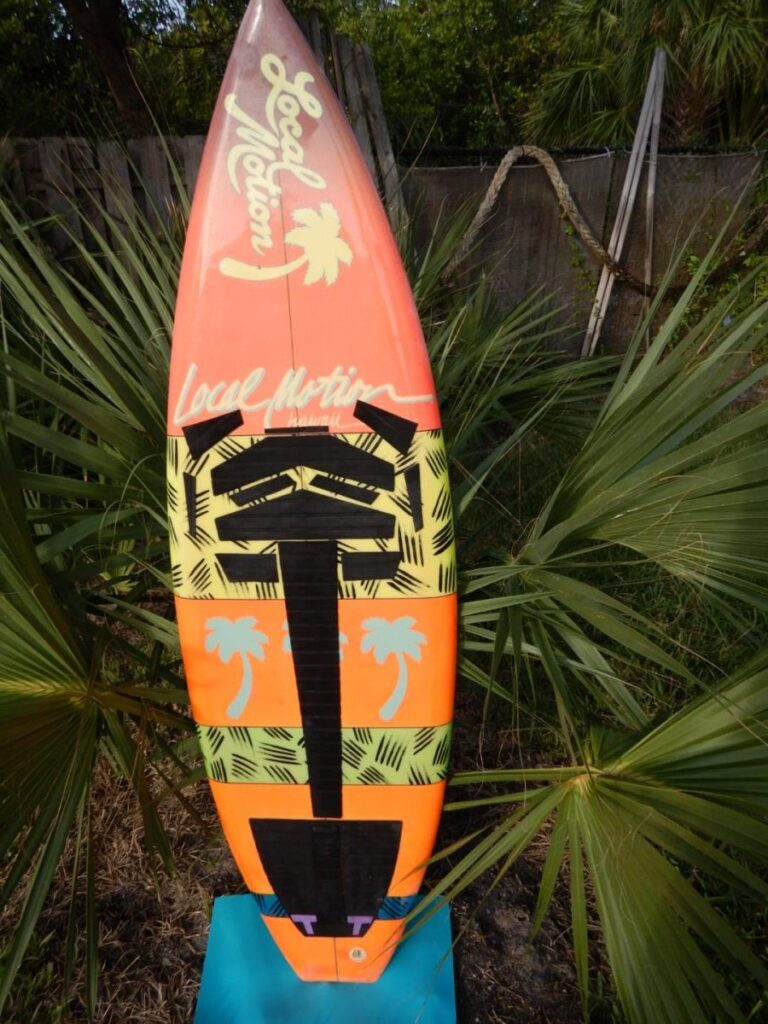 local motion hawaii vintage surfboard 1980's surf board surfshop stuart fl jensen beach fl 34996