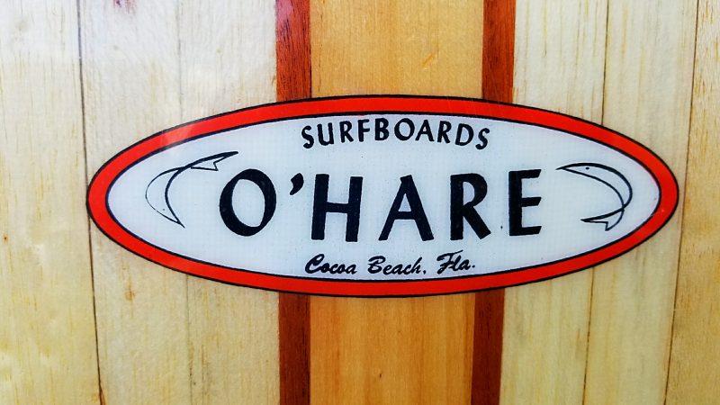 Pat O'hare ohare vintage antique surfboard surf board surfboards surfshop museum stuart jensen beach hutchinson island florida 34996